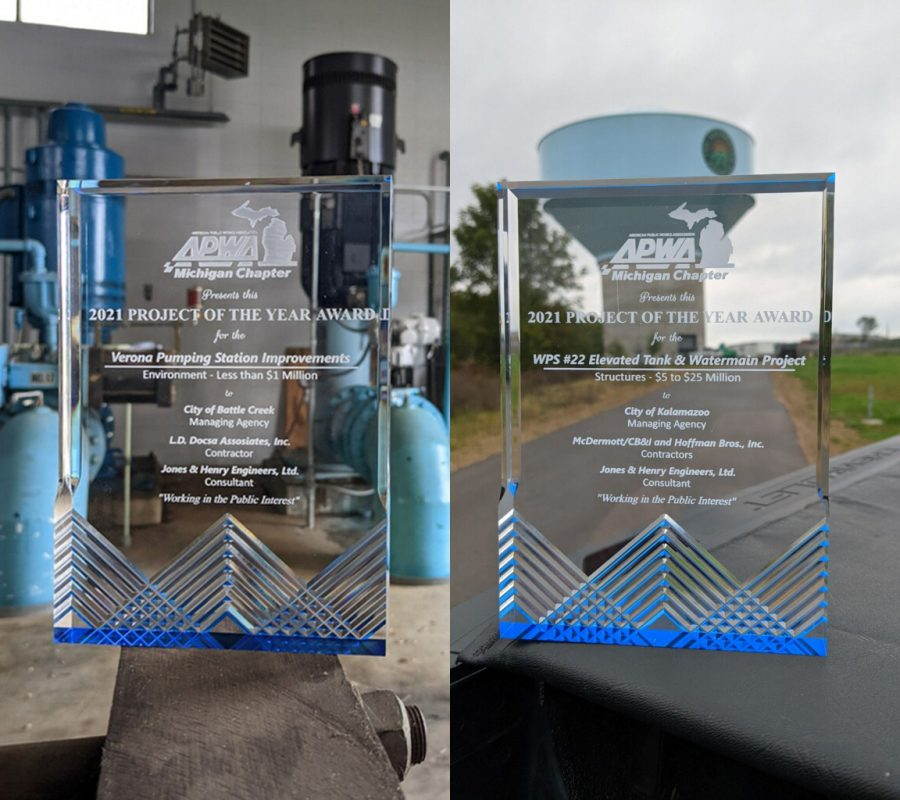 """Kalamazoo Office Receives Two, """"2021 Project of the Year Awards"""" from MI APWA"""